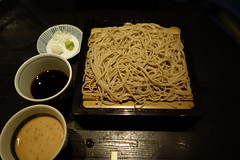 Zarusoba with doble dipping soup