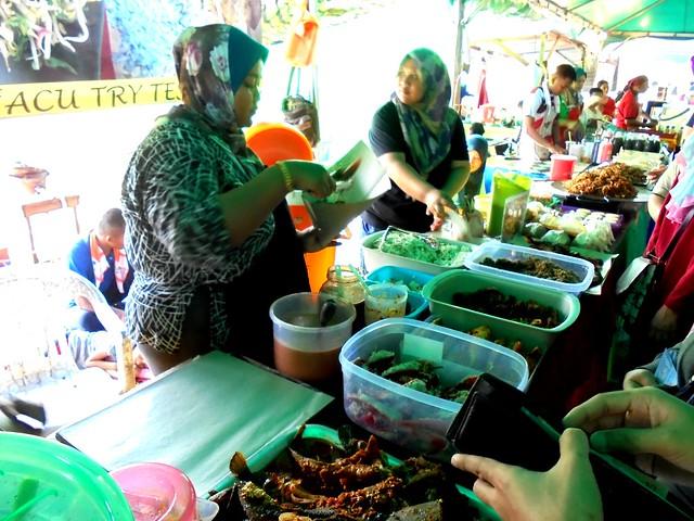 Nasi kerabu stall 2