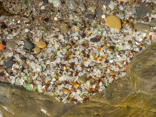view glass mendocino sand fragments nature water rocks polished shards smooth erosion sea shore assortment california trash beach ocean colorful garbage washed state weathered pebbles park bragg coast northern fort fortbragg unitedstates us