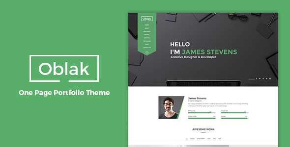 Oblak WordPress Theme free download