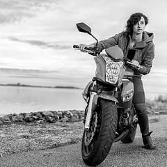 """When life throws you a curve, lean into it"" :boot: @kristine_raffaella_   @ryanlottphotog  . . . . . #motorcycle #beachlife #beach #maryland #usa #kawasaki #road #testshoot #actionshot #action #photography #photographyislife #nikon #d750 #nikond750 #onlo"