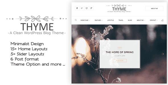 Thyme WordPress Theme free download