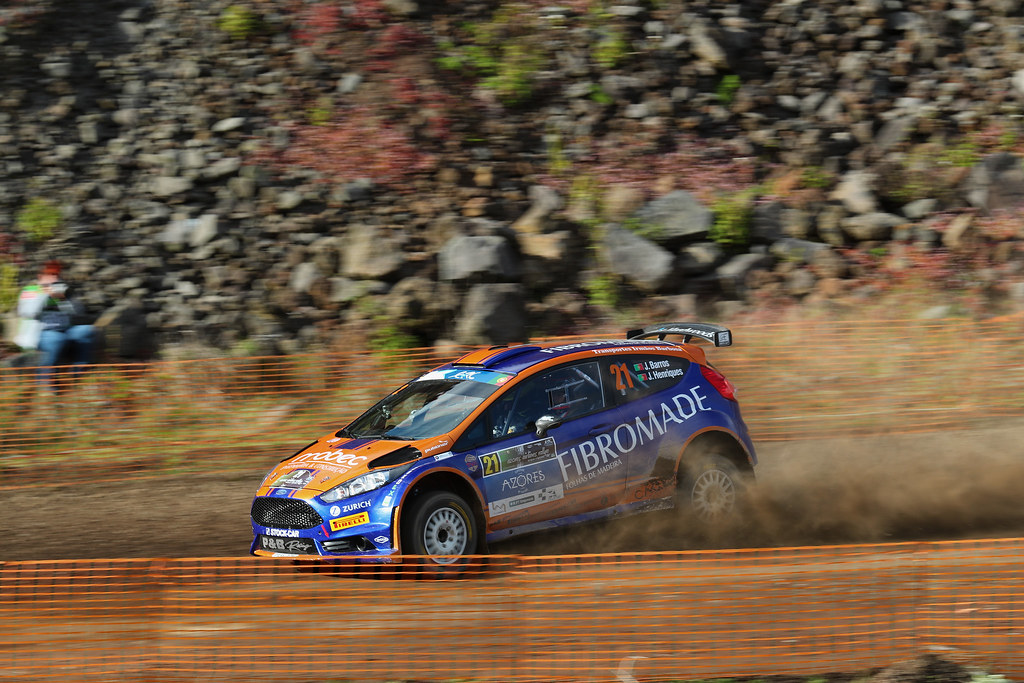 21 BARROS Joao HENRIQUES Jorge Ford Fiesta R5 Action during the 2017 European Rally Championship ERC Azores rally,  from March 30  to April 1, at Ponta Delgada Portugal - Photo Gregory Lenormand / DPPI