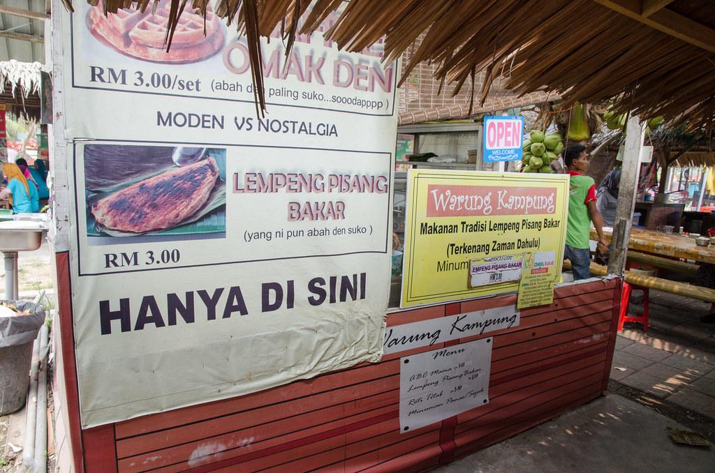 Lempeng pisang bakar at Cendol Bakar Kuala Selangor