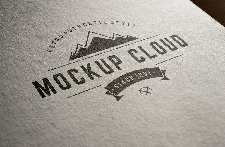 PSD Logo Mockup - Logo Mockup Set
