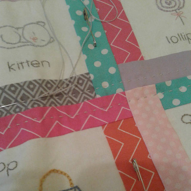 Finally hand quilting :)