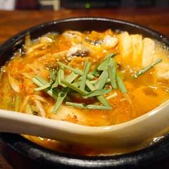noodle(0.0), noodle soup(0.0), produce(0.0), laksa(0.0), oyakodon(0.0), udon(0.0), jjigae(1.0), kimchi jjigae(1.0), sundubu jjigae(1.0), food(1.0), dish(1.0), soup(1.0), cuisine(1.0),