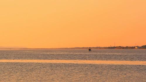 river twilight explore fishingboat toneriver 利根川