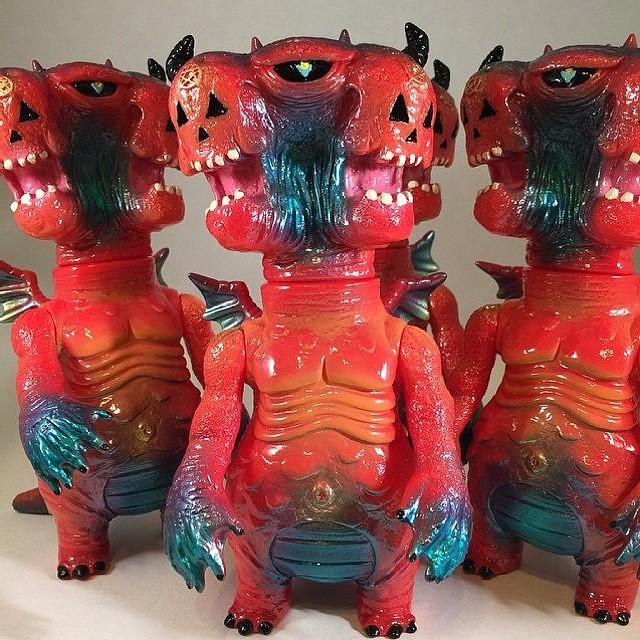 #sofubi #mrdlux #kaiju #vcolor #frankmysterio #anticristo666 for sale in dlux.bigcartel.com