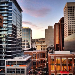 I don\'t know why but I just really like this view of #downtownslc!