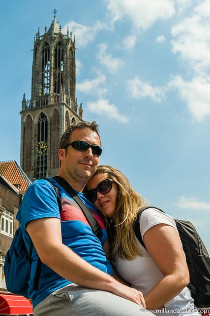 Con la torre de la catedral de Utrecht