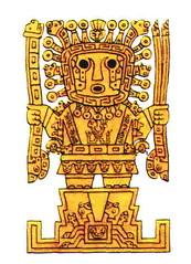 representaciónn de viracocha, dioses instructores