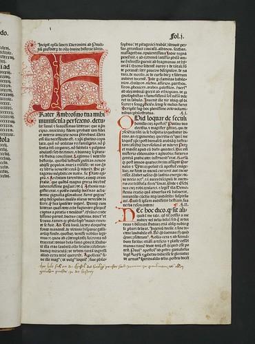 Penwork initial in Biblia latina
