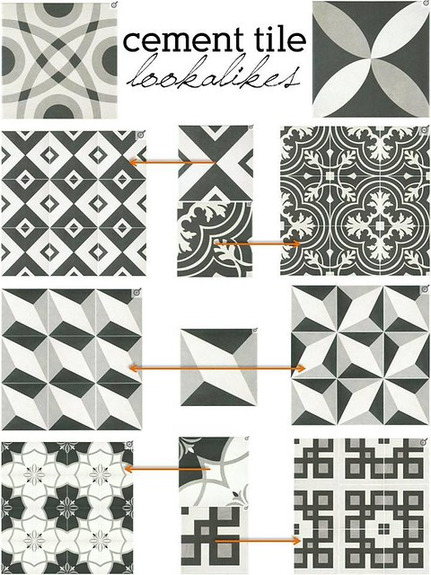 cement tile lookalikes