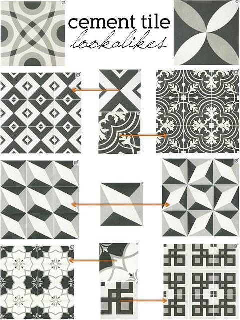 cement tile lookalikes