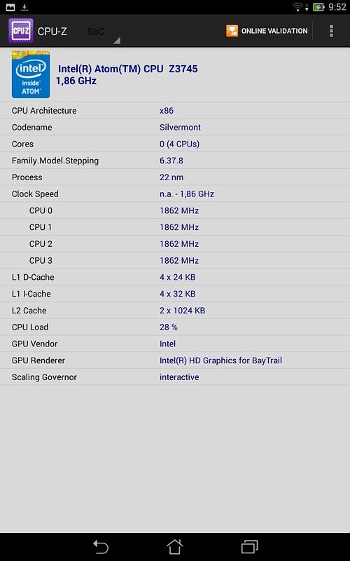 Memo Pad HD8 tablet lõi tứ đầy sức mạnh - 38108