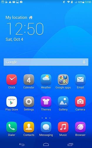 Home screen ของ Huawei MediaPad X1