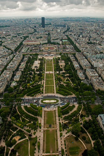 View of Paris from Eiffel Tower - South