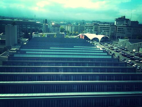 Canton de Genève, vers Carouge, vue du 6ème étage