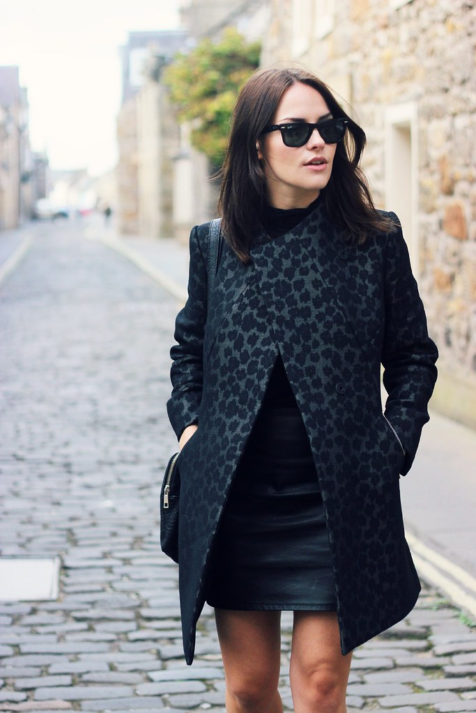 Reiss Structured Leopard coat 3