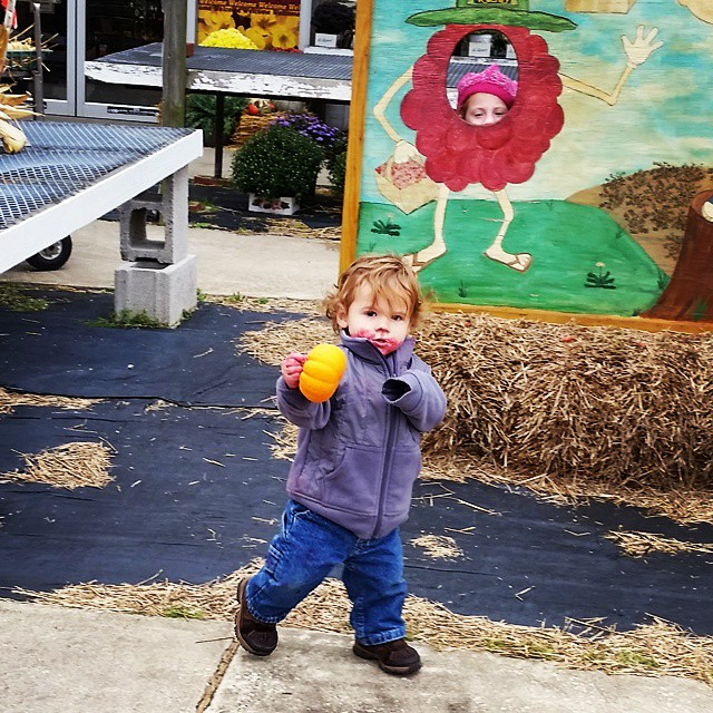 Tiny loved berry picking at Rosby's! #stevensonpartyoffive #THISISCLE