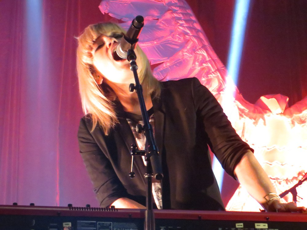 The multi-talented Anna Bulbrook of The Airborne Toxic Event. Photo by Julie, Oct. 4, 2014, Boston, MA.