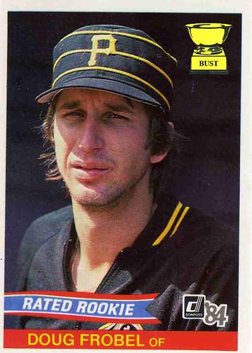 Baseball Card Bust Doug Frobel 1984 Donruss