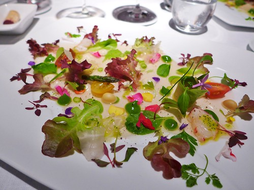 Martin Berasategui vegetable hearts salad with seafood