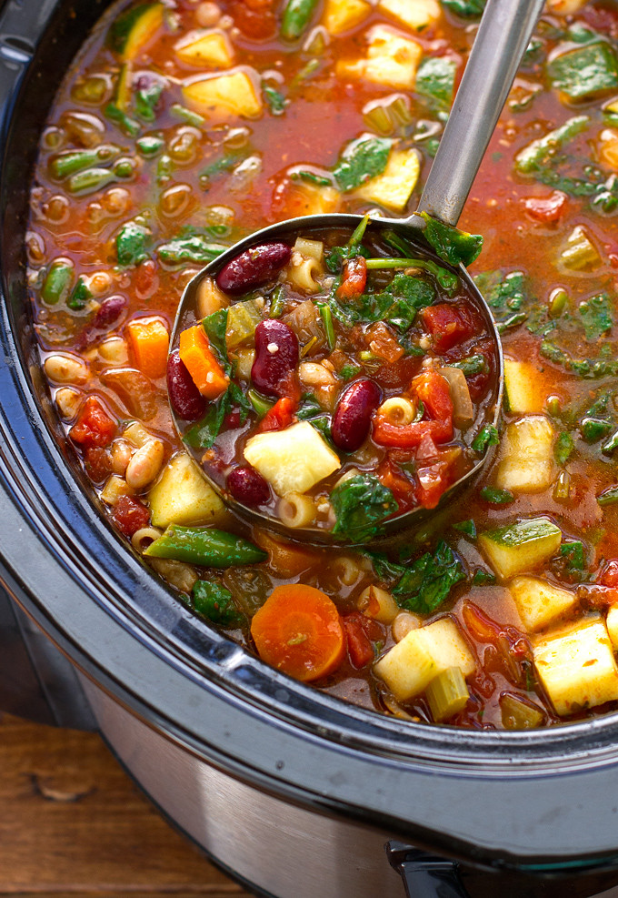 Homemade Minestrone Soup Slow Cooker Food Recipes