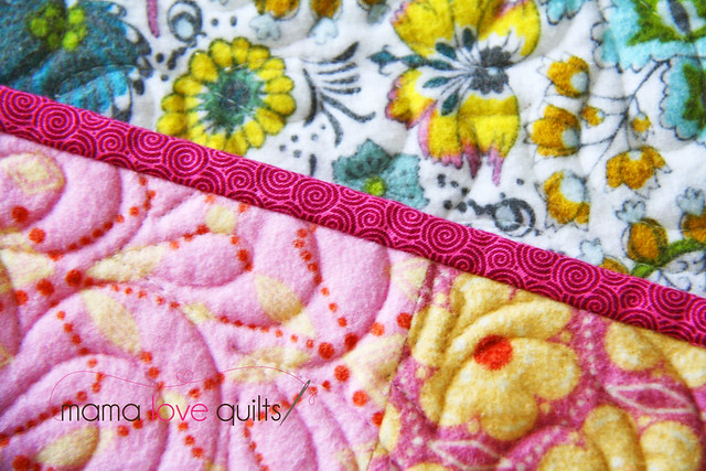 Anna Maria Horner Flannel Quilt_Binding