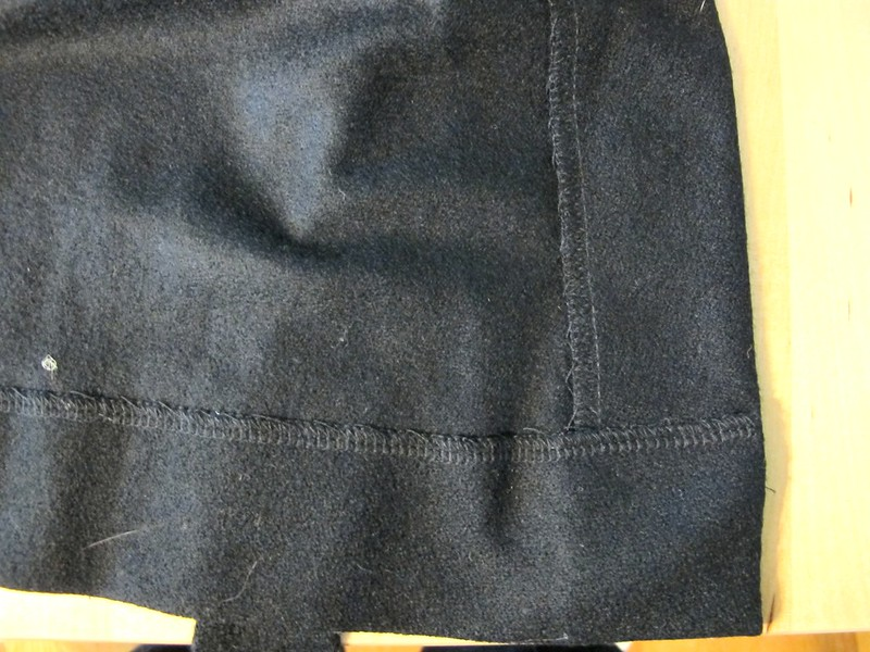 DVF Black wool dress made with Mood Fabrics