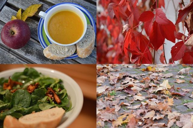 Herbstlaub Herbstessen