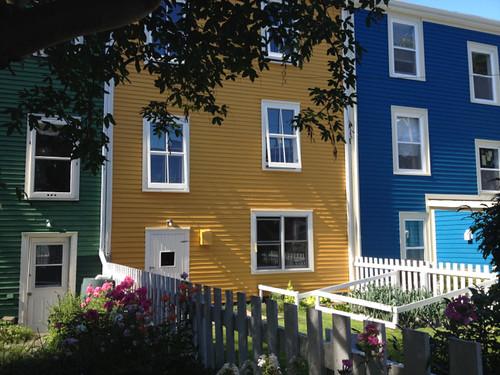 Canada St John's coloured houses