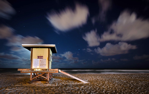 ocean longexposure vacation beach night clouds landscape sand nikon nightscape florida lifeguard hollywood tamron atlanticocean browardcounty hollywoodbeach nikond7000 jakerost
