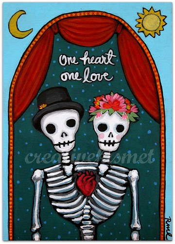Day of the Dead Couple - Art by Regina Lord