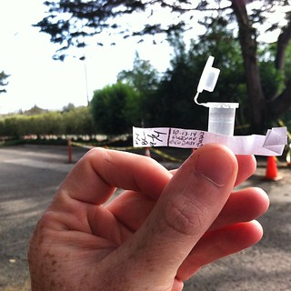 Nabbed yah! #Geocache adventures on the #DalyCity/#SF border. Adorable container! TFTC! #urbantreasure