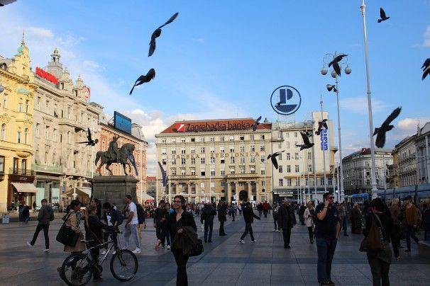 Zagreb - Plaza de ban Josip Jelacic