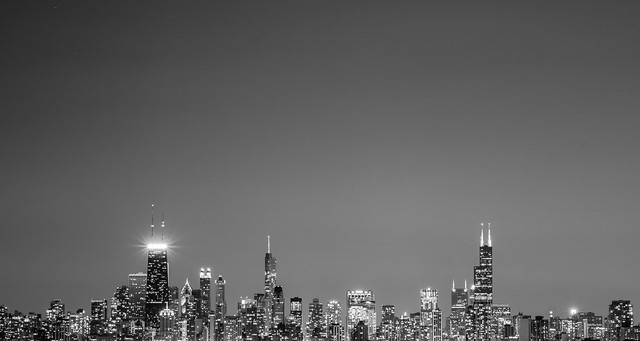 Paul is Moody - Chicago skyline from diversey harbor