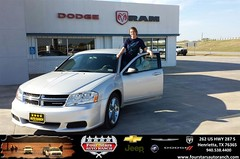 #HappyAnniversary to Jessica Stegall on your 2012 #Dodge #Avenger from Tracey Frerich at Four Stars Auto Ranch!