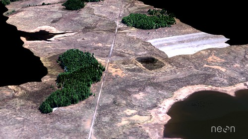 Lidar data collected over Grand Mesa, Colorado as a part of instrument testing and calibration by the National Ecological Observatory Network Airborne Observation Platform (NEON AOP).