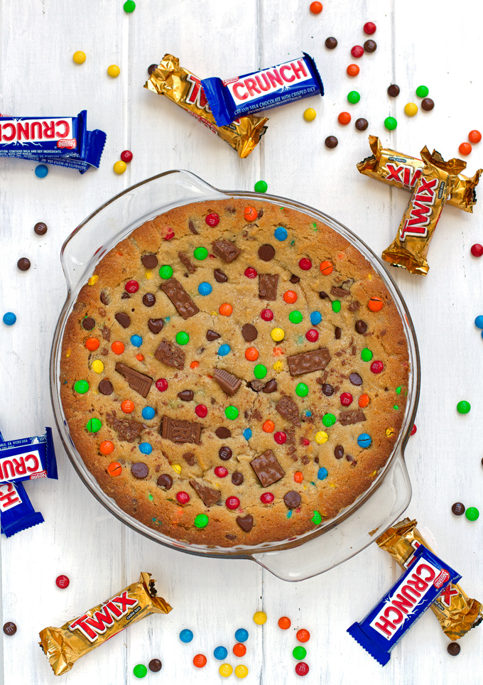 Brilliant Loaded Chewy Chocolate Chip Mm Cookie Cake Recipe Little Spice Jar Funny Birthday Cards Online Inifofree Goldxyz