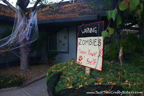 zombie attack halloween decor-diy