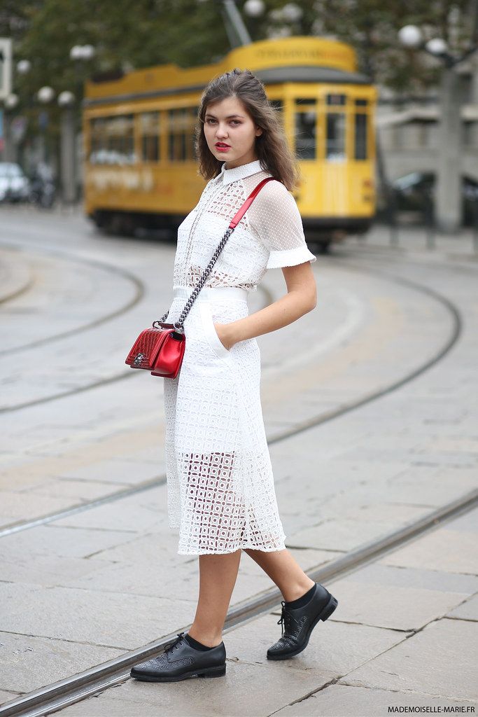 Elvira Abasova at Milan fashion week