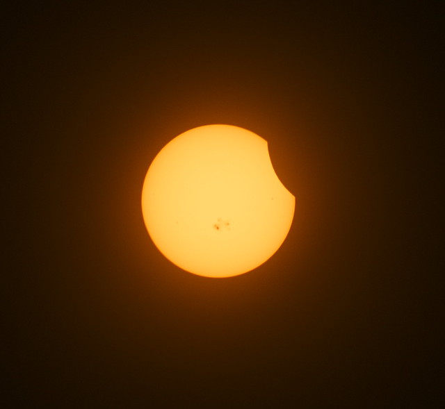 Photo of today's partial eclipse