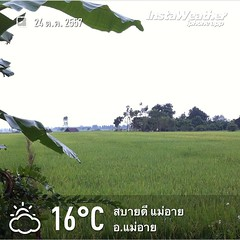 Made with @instaweatherpro Free App! #instaweather #instaweatherpro #weather #wx  #อแม่อาย #ประเทศไทย #day #morning #th