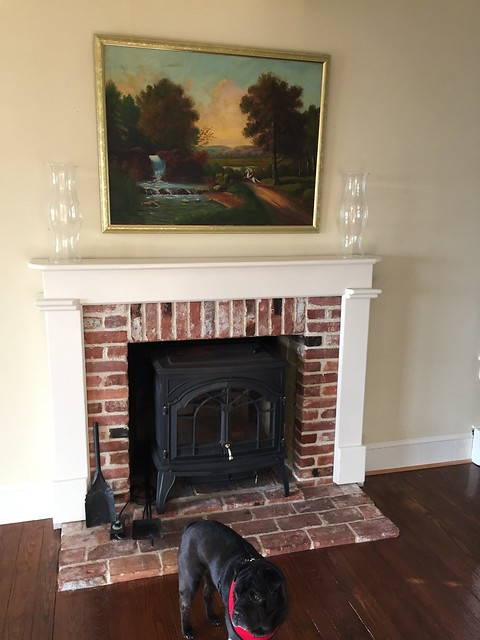 A Custom Diy Fireplace Mantel Beneath Our Shiplap Old Town