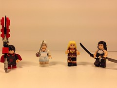 Lego custom decaled RWBY figures designed by Saber-Scorpion's lair