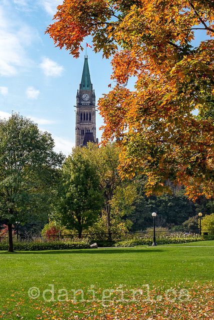 Ottawa Parliament Buildings in Autumn