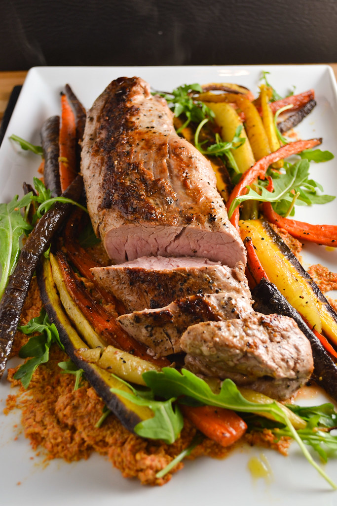 Roasted Pork Tenderloin with Carrot Romesco | Things I Made Today