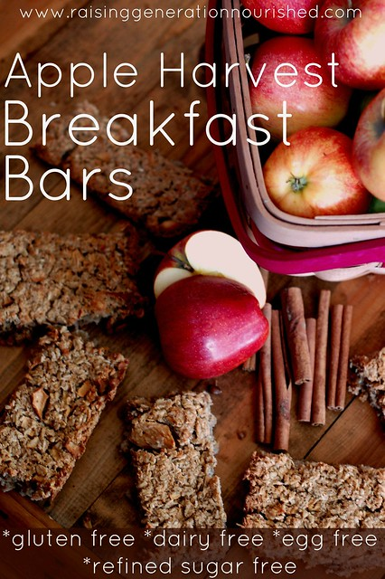 Apple Harvest Breakfast Bars :: Gluten, Egg, Dairy, & Refined Sugar Free